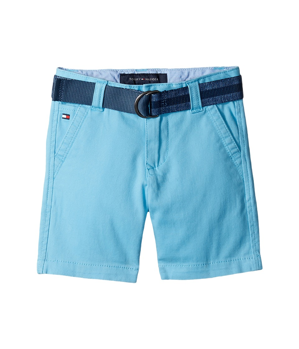 Tommy Hilfiger Kids - Dagger Stretch Twill Shorts (Big Kids) (Zen Blue) Boy's Shorts