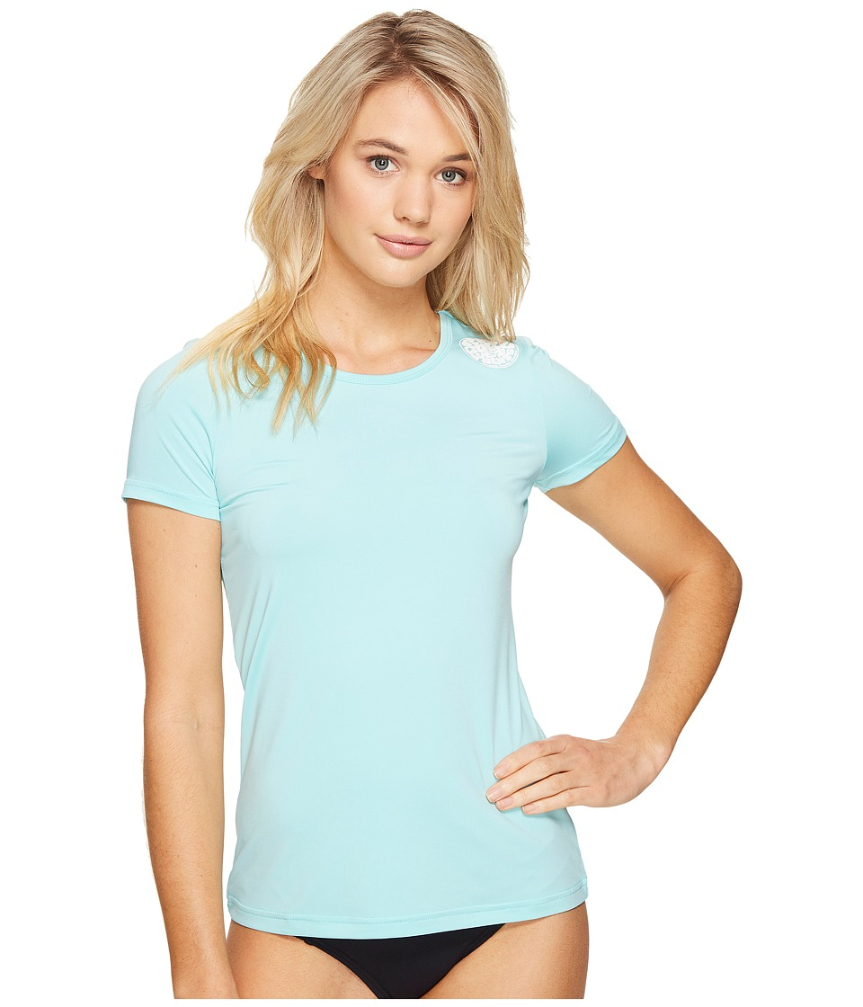 Rip Curl - Whitewash Loose Fit Short Sleeve (Aqua) Women's Swimwear