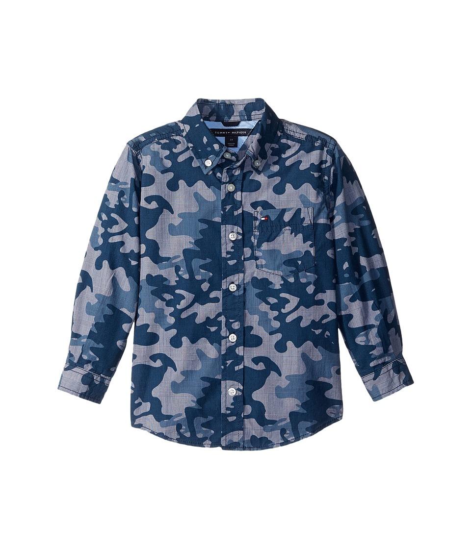 Tommy Hilfiger Kids - Glen Camo Printed Shirt (Big Kids) (Flag Blue) Boy's Clothing