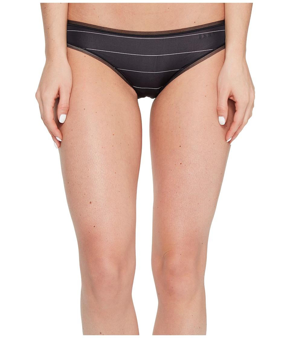 DKNY Intimates - Litewear Low Rise Bikini (Black Pinstripe) Women's Underwear