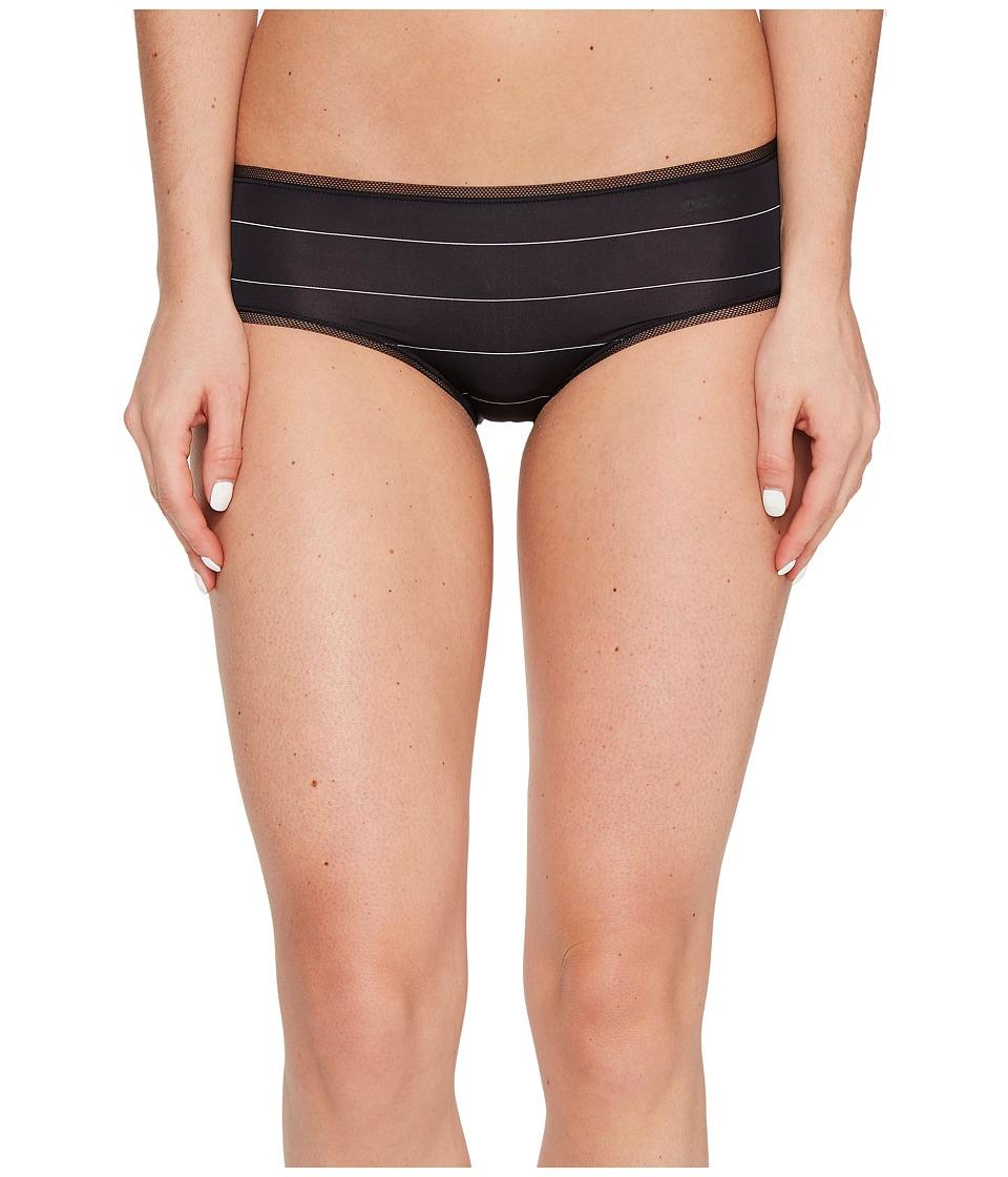 DKNY Intimates - Litewear Low Rise Hipster (Black Pinstripe) Women's Underwear