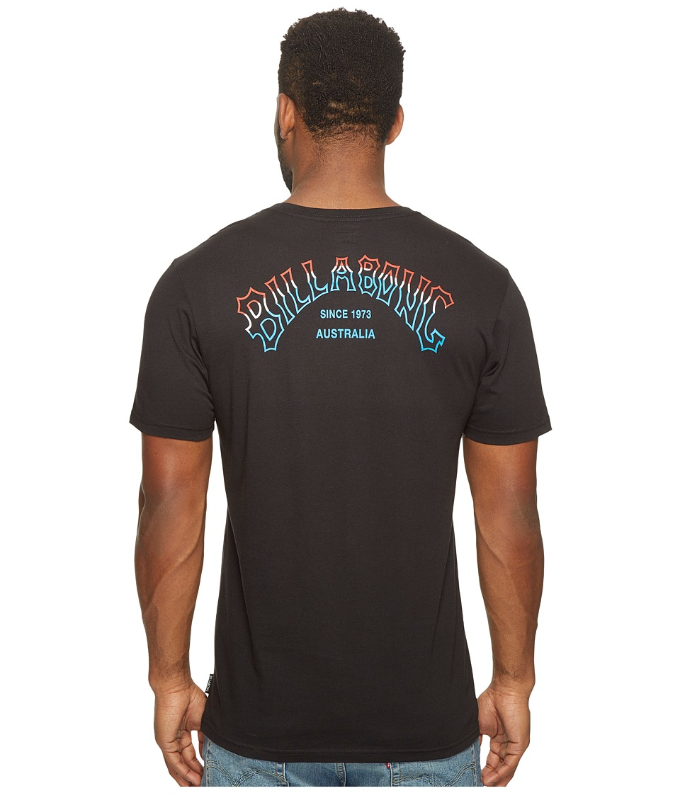Billabong - Tri Arch Printed T-Shirt (Black) Men's T Shirt
