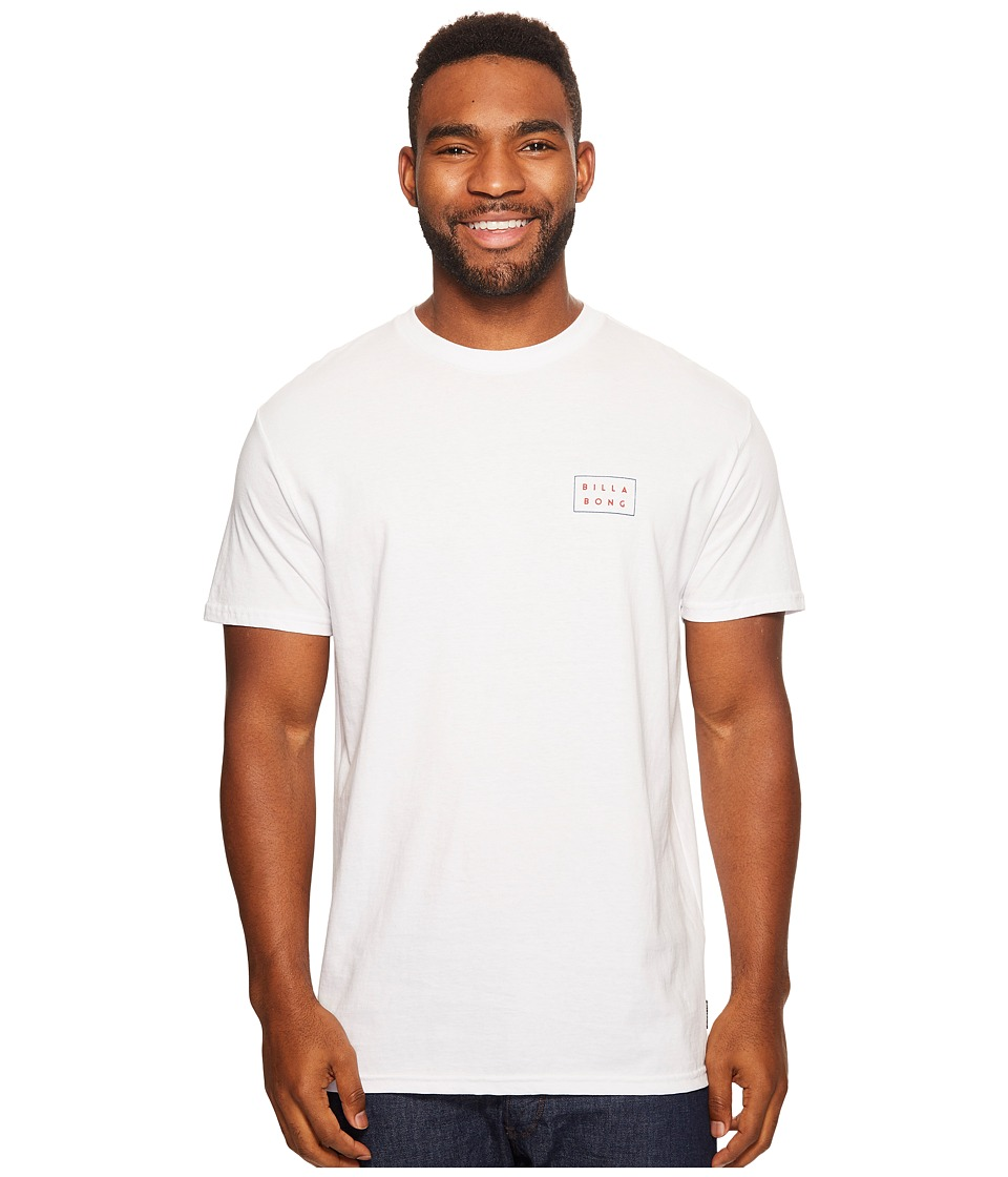 Billabong - Die Cut Fourth Printed T-Shirt (White) Men's T Shirt