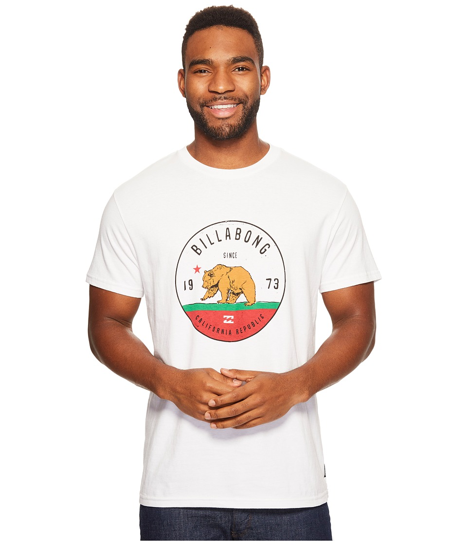 Billabong - Grizzly California Printed T-Shirt (White) Men's T Shirt