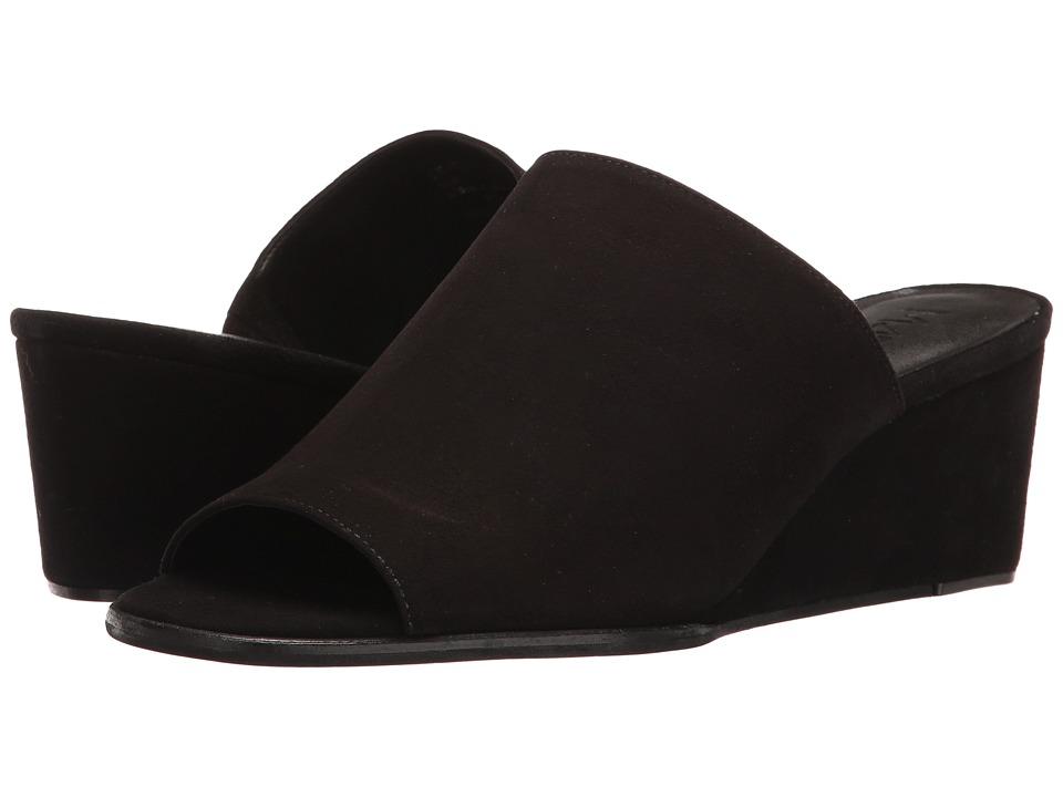 M4D3 - Clarah (Black Kid Suede) Women's Wedge Shoes
