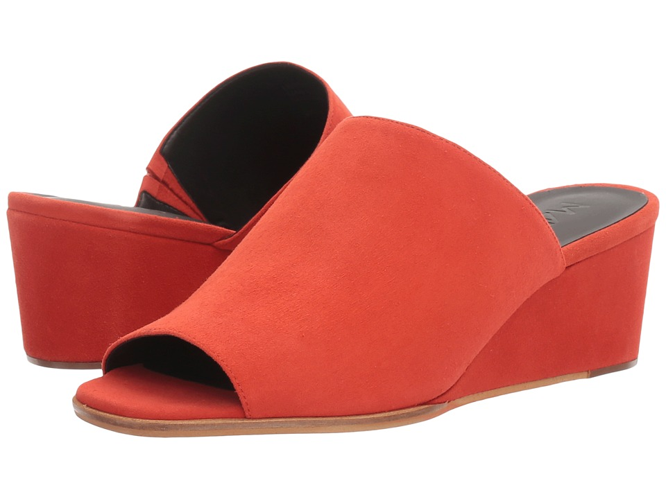 M4D3 - Clarah (Tangerine Kid Suede) Women's Wedge Shoes