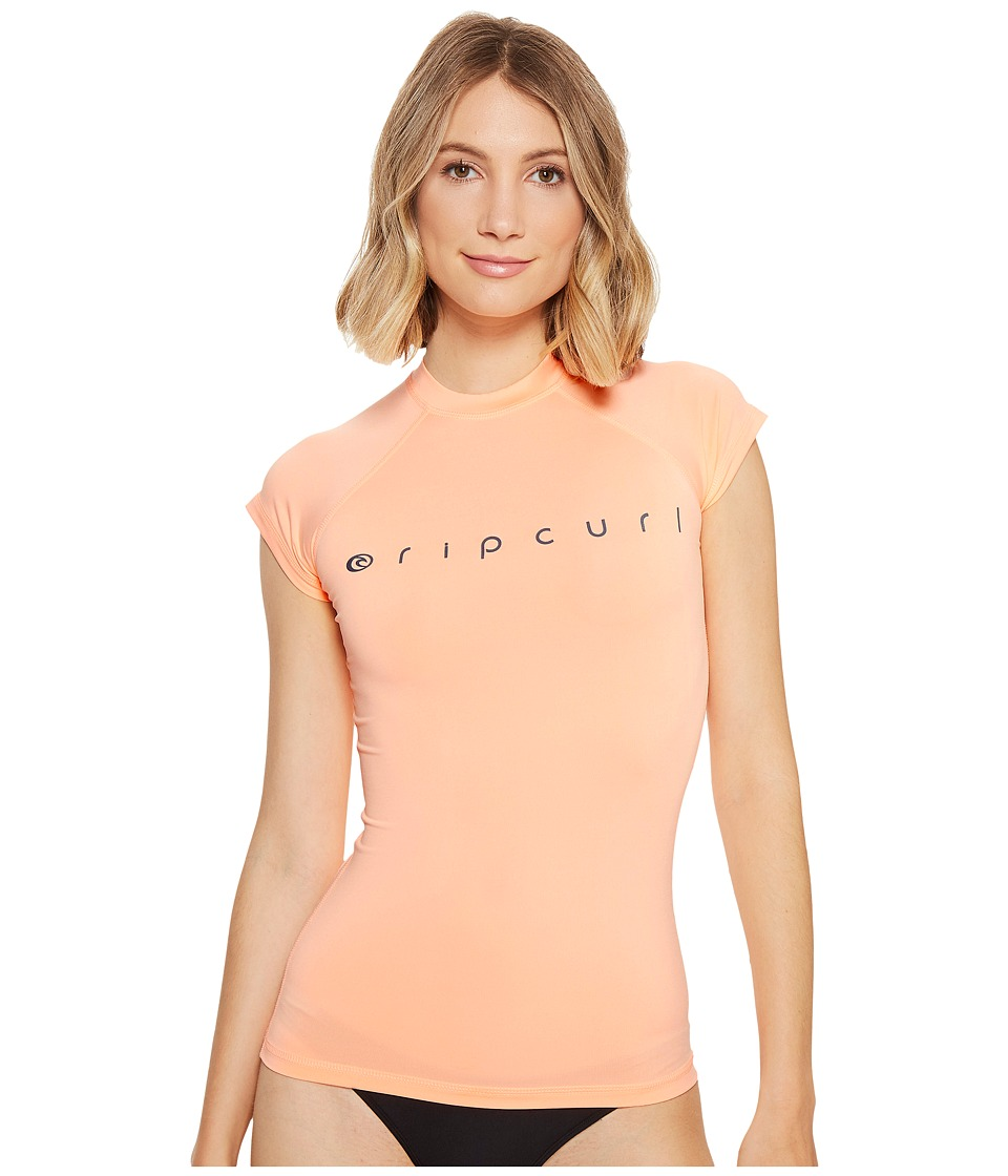 Rip Curl - Dawn Patrol Cap Sleeve (Peach) Women's Swimwear