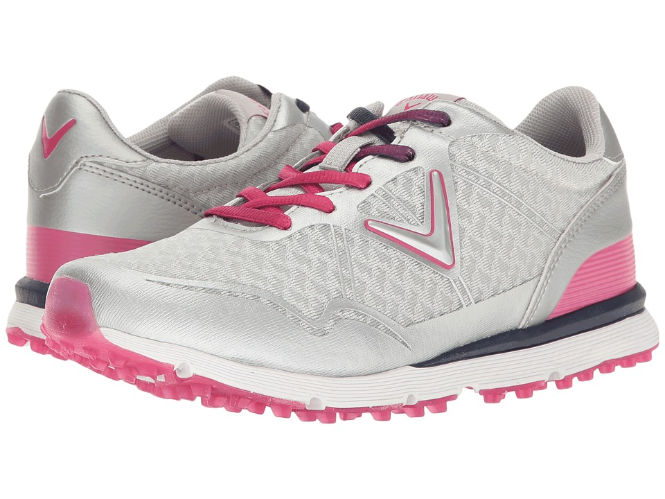 Callaway - Solaire San Clemente (Grey/Pink) Women's Golf Shoes