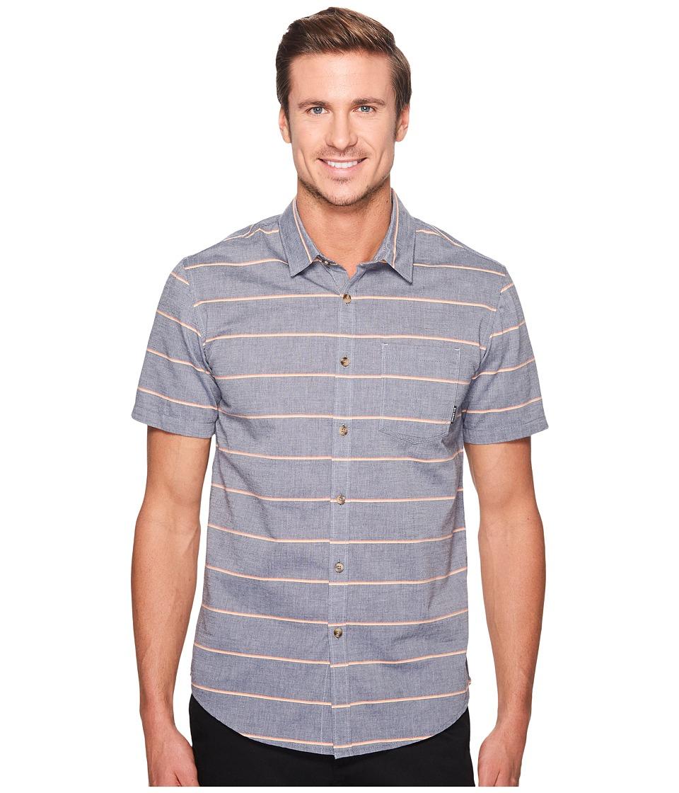 Billabong - Flat Lines Woven Top (Dark Slate) Men's Clothing