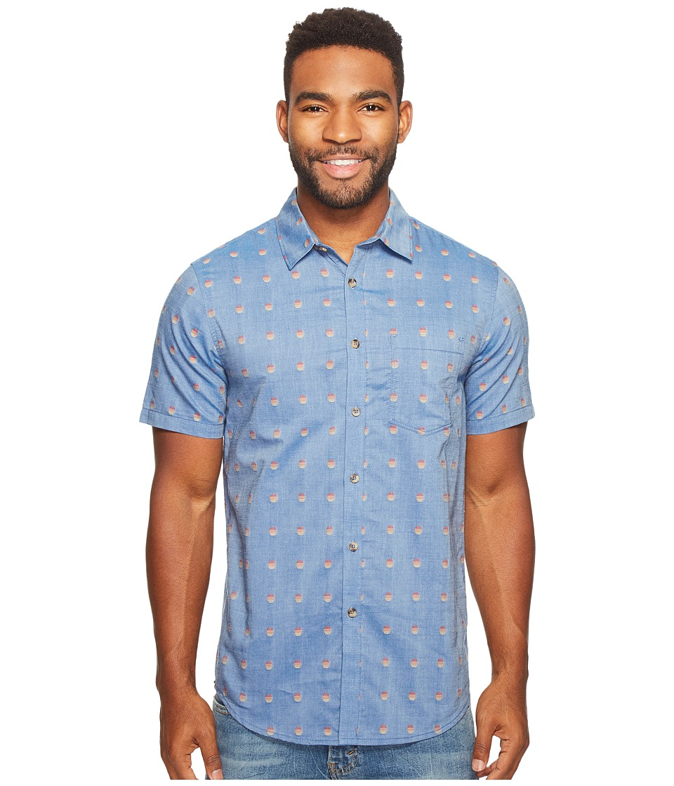 Billabong - Traveller Woven Top (Harbor Blue) Men's Clothing