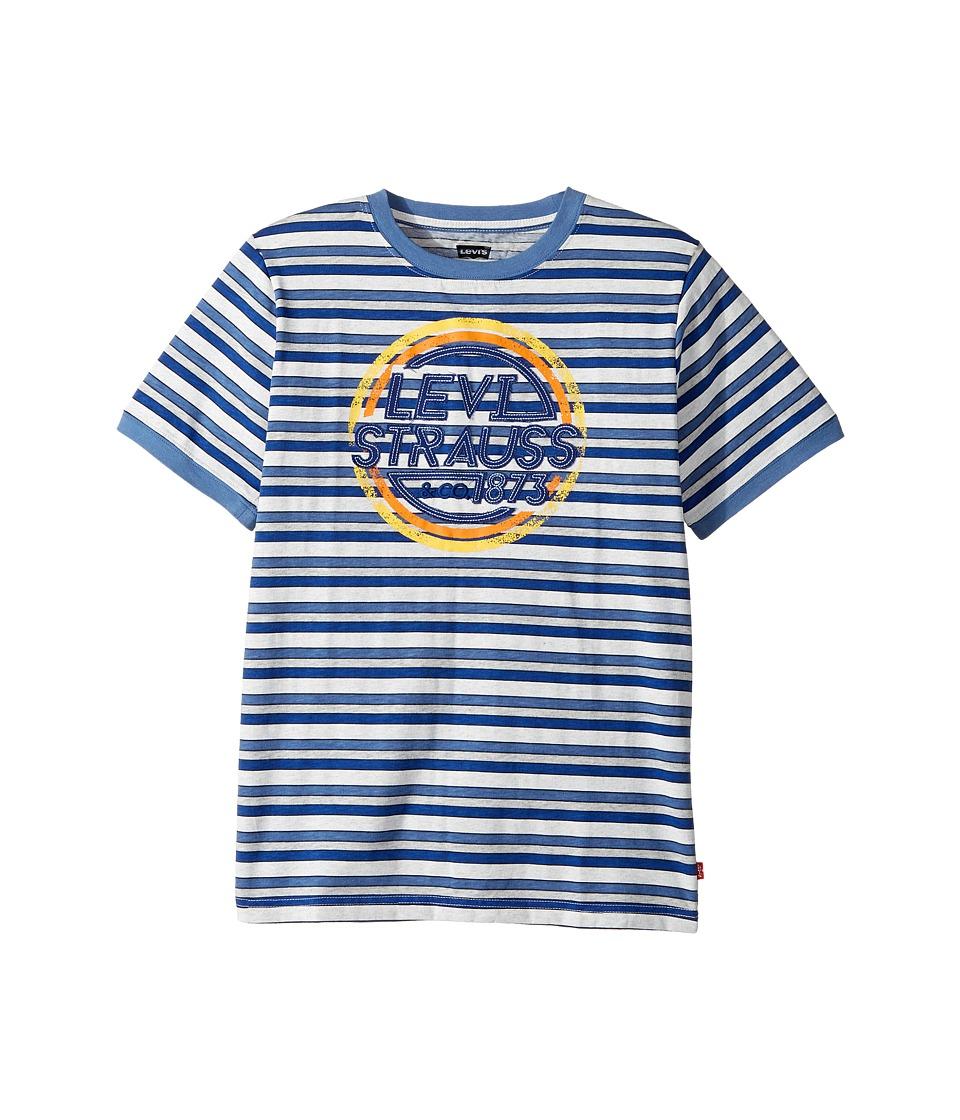 Levi's(r) Kids - Waycross Applique Top (Big Kids) (Dutch Blue/Gray Heather Stripe) Boy's Clothing