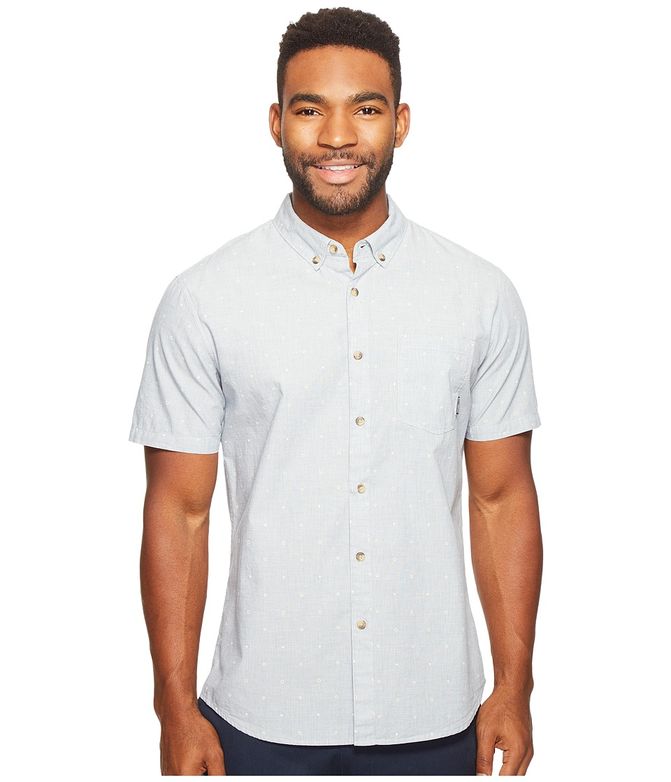 Billabong - Jetson Short Sleeve Woven Top (Chambray) Men's Clothing