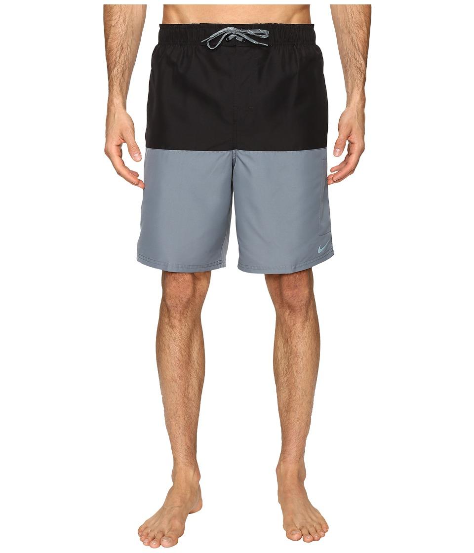Nike - Core Split 9 Volley Shorts (Black) Men's Swimwear