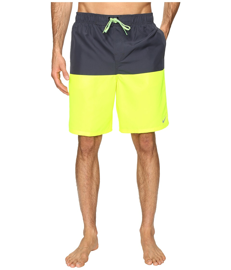 Nike - Core Split 9 Volley Shorts (Volt) Men's Swimwear