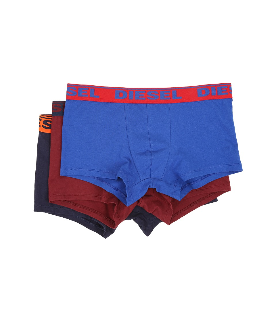 Diesel - Shawn Trunk GAFN 3-Pack (Blue/Burgundy/Navy) Men's Underwear
