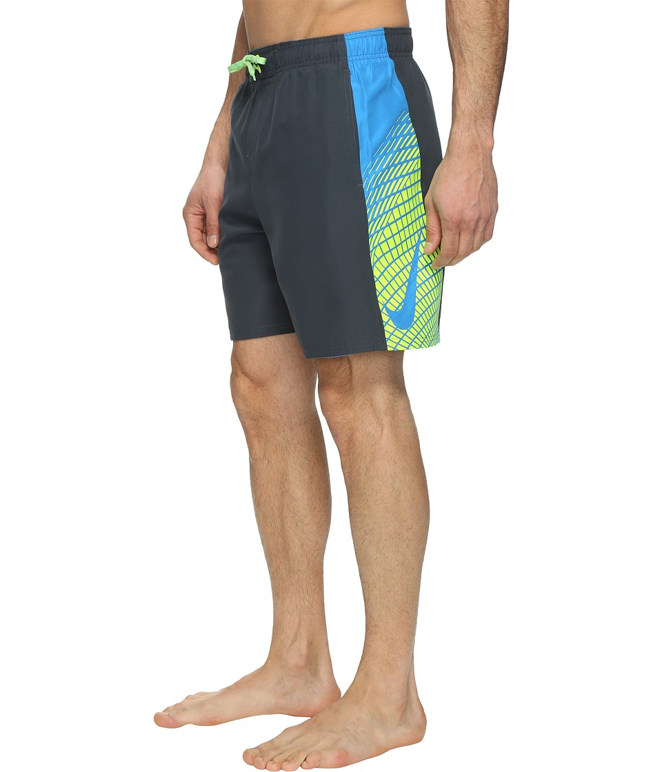 Nike - Clash 7 Volley Shorts (Classic Charcoal) Men's Swimwear
