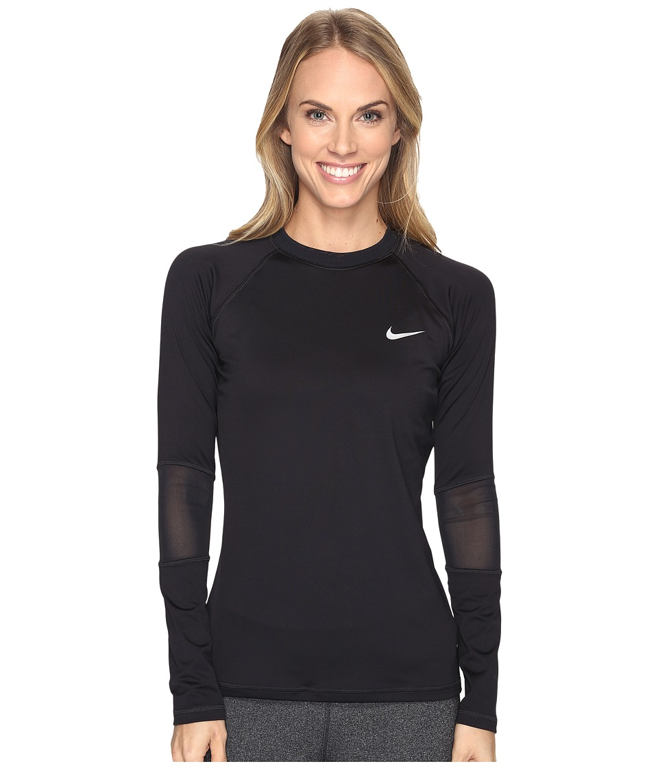 Nike - Long Sleeve Hydro Top Cover-Up (Black) Women's Swimwear