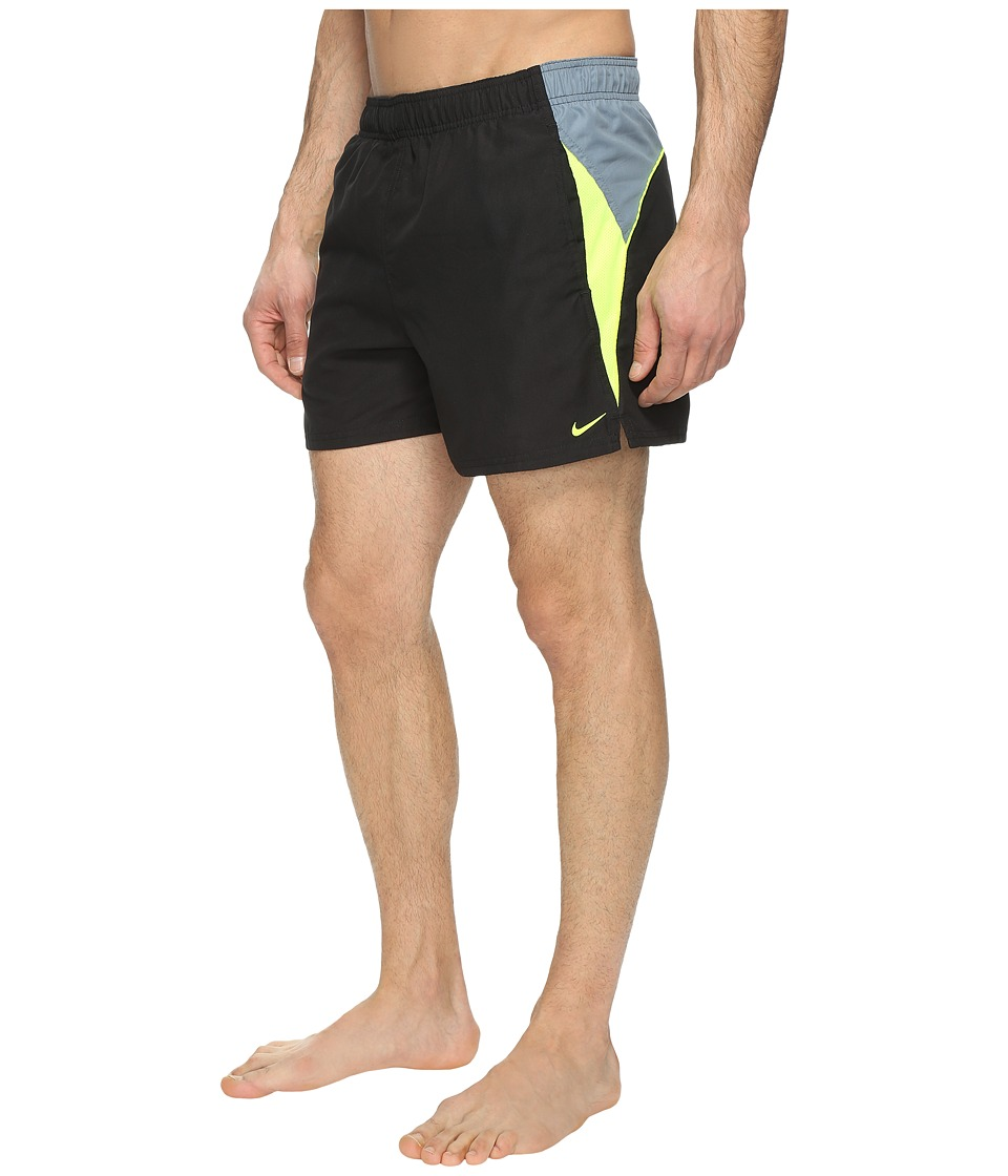 Nike - Swift 4 Volley Shorts (Black) Men's Swimwear