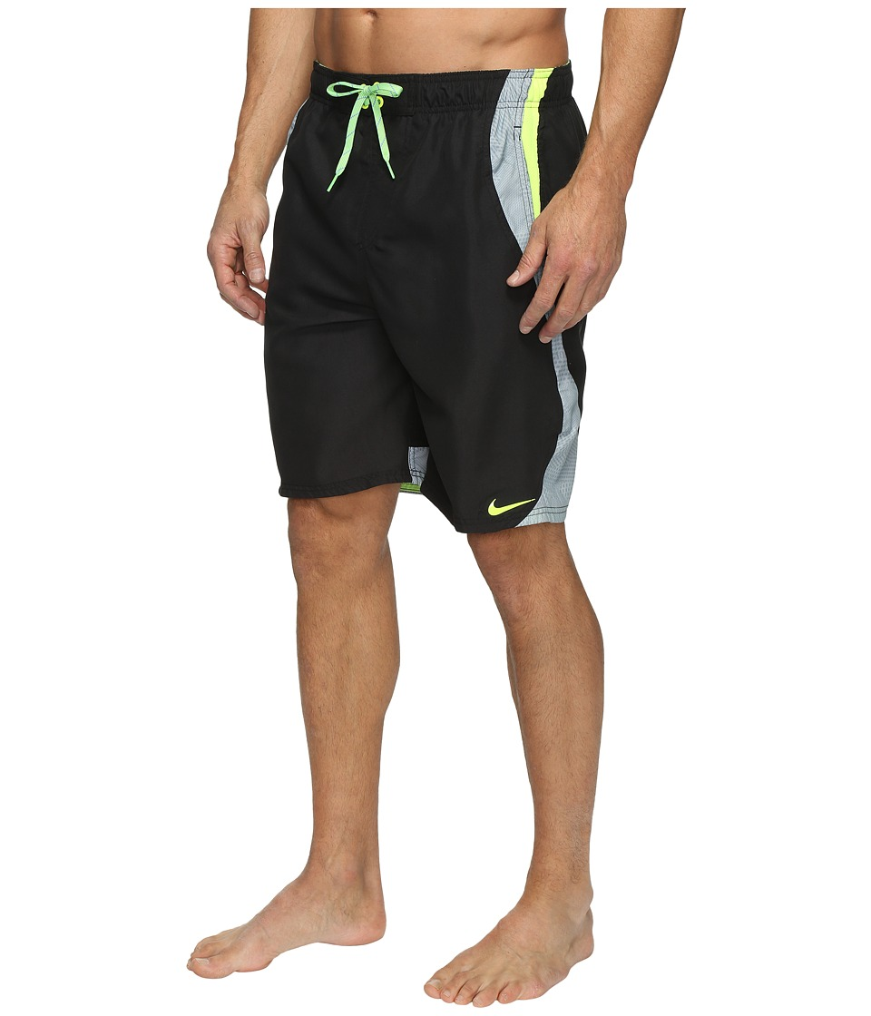 Nike - Liquid Haze Splice 9 Volley Shorts (Black) Men's Swimwear