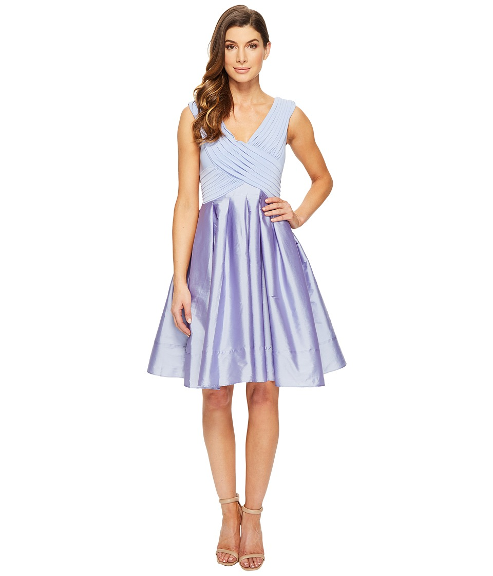 Adrianna Papell - Tafetta Fit and Flare (Steel Blue) Women's Dress
