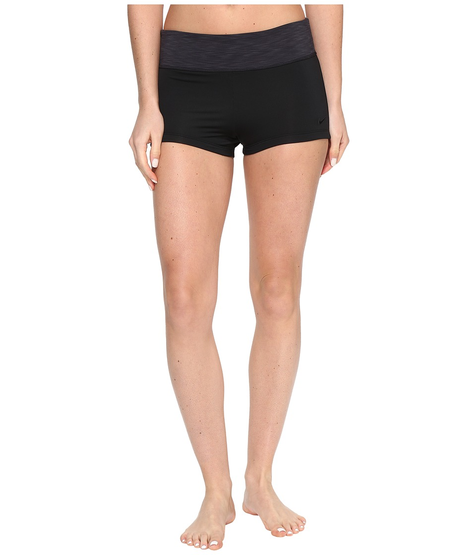 Nike - Iconic Heather Kick Shorts (Black) Women's Swimwear