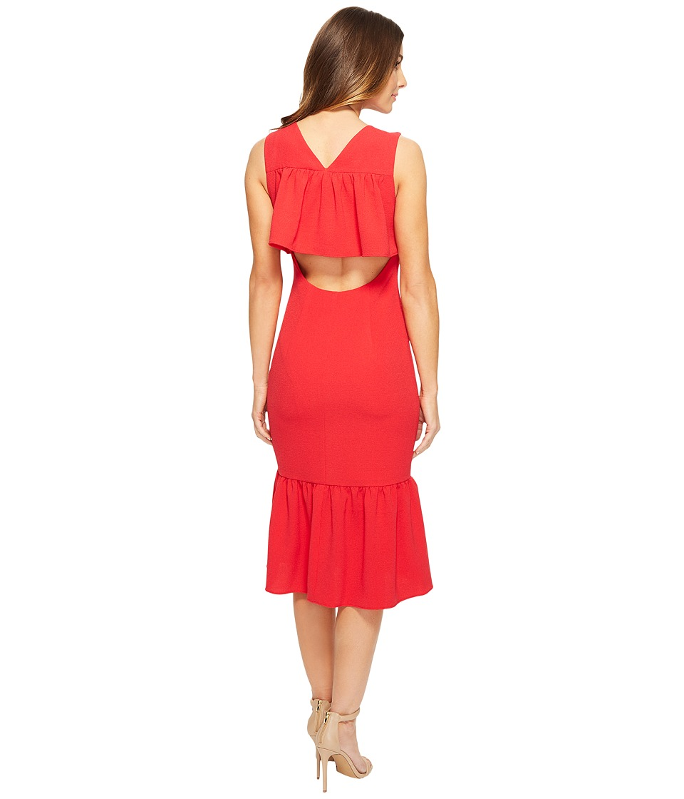 Adrianna Papell - Textured Crepe Drop Waist (Lipstick Red) Women's Dress