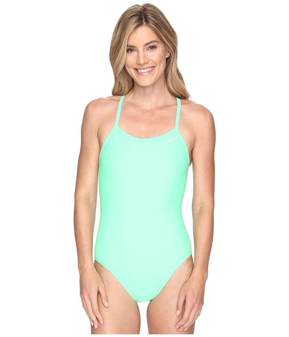 Nike - Solids Lingerie Tank Top (Electro Green) Women's Swimwear