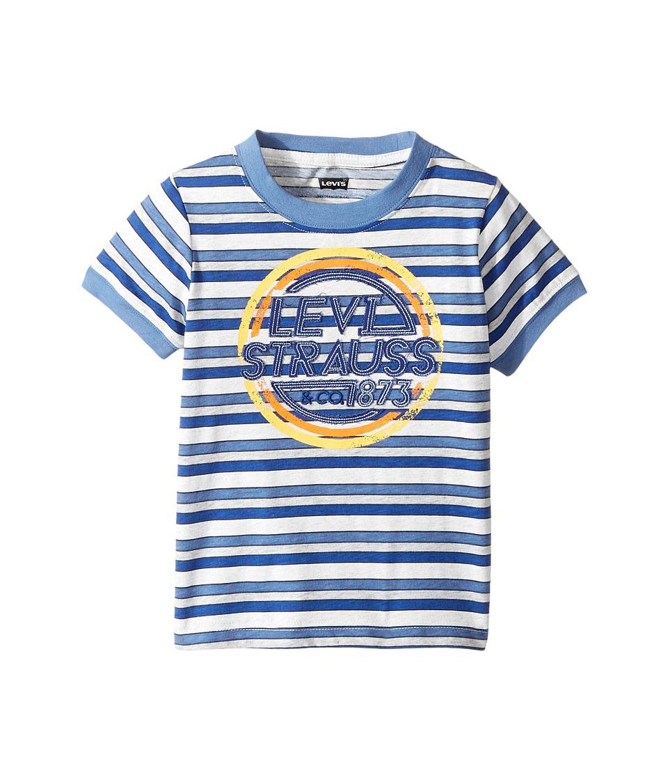 Levi's(r) Kids - Waycross Applique Top (Toddler) (Dutch Blue/Gray Heather Stripe) Boy's Clothing