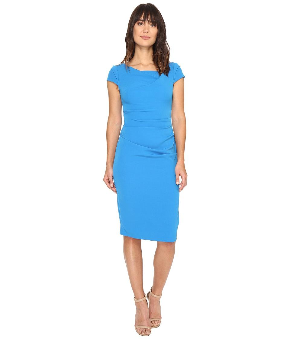 Adrianna Papell Cowl Side Rusched Sheath Dress (Regatta Blue) Women