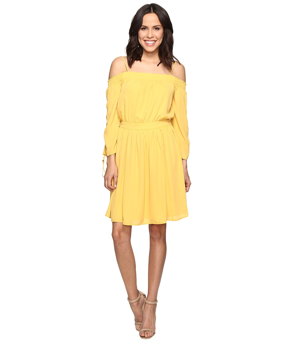 Adelyn Rae - Off the Shoulder Dress (Golden Yellow) Women's Dress