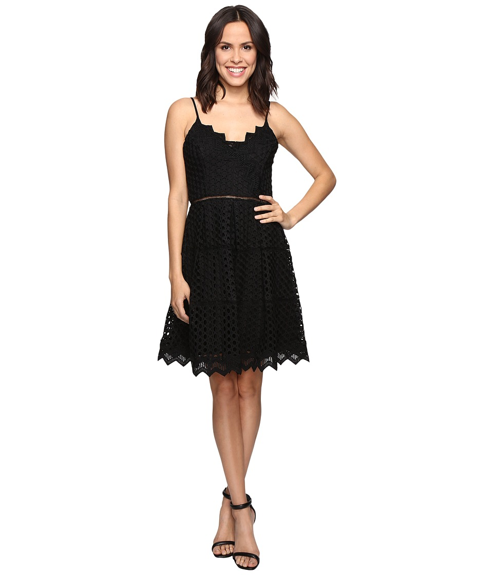 Adelyn Rae Lace Fit and Flare Dress (Black) Women