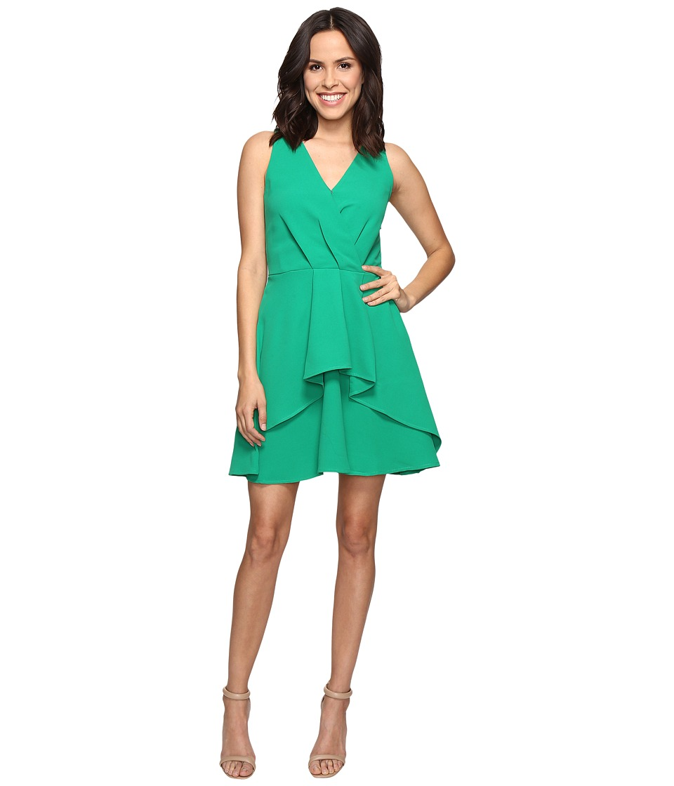 Adelyn Rae Ruffle Fit and Flare Dress (Green) Women