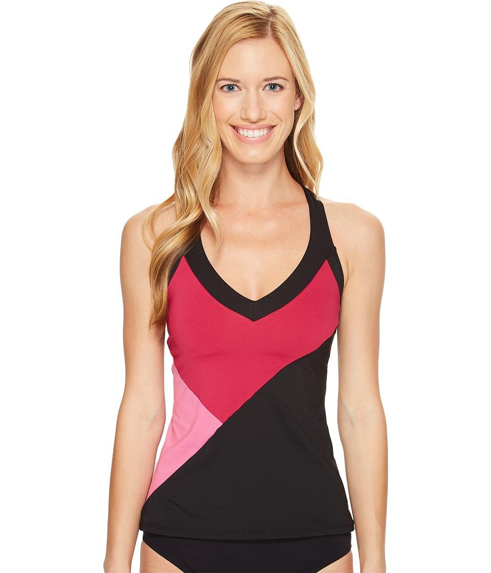 Nike - Color Surge V-Back Tankini Top (Sport Fuchsia) Women's Swimwear