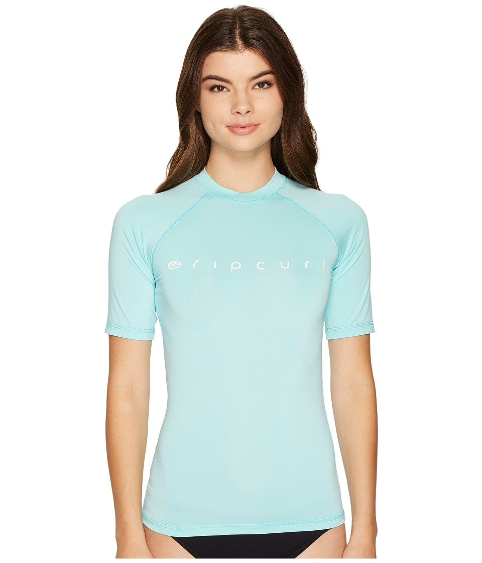 Rip Curl - Dawn Patrol UV Tee Short Sleeve (Aqua) Women's Swimwear