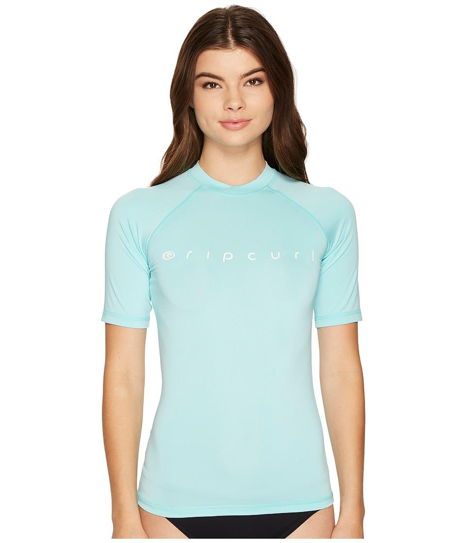 Rip Curl Dawn Patrol UV Tee Short Sleeve (Aqua) Women