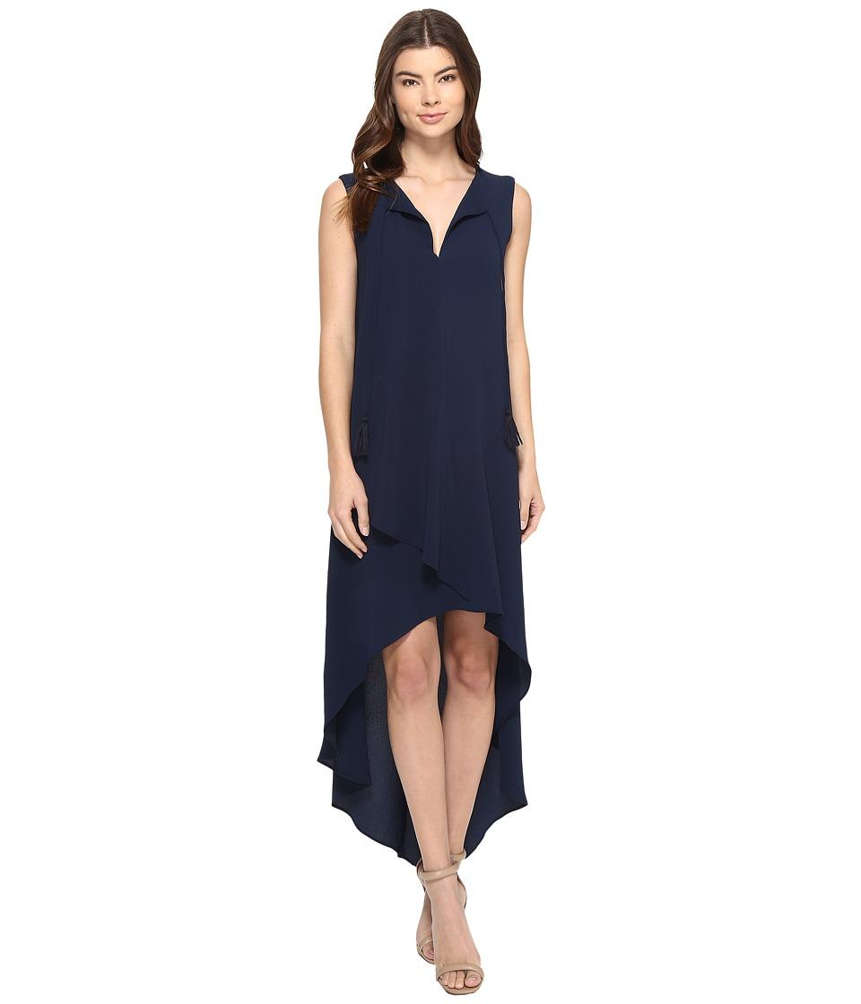 Adelyn Rae Sleeveless Hi-Lo Dress (Navy) Women