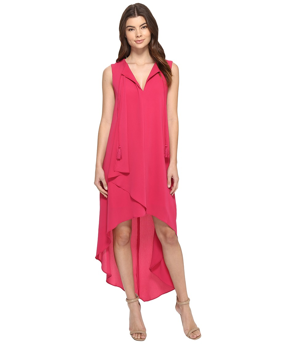 Adelyn Rae Sleeveless Hi-Lo Dress (Berry) Women