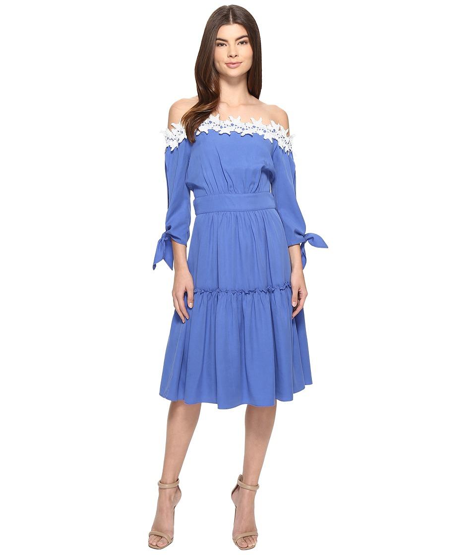 Adelyn Rae - Off Shoulder Dress (Cornflower Blue) Women's Dress