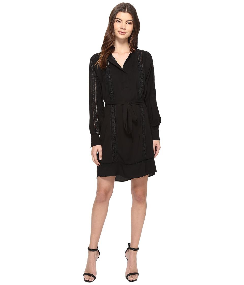 Adelyn Rae Long Sleeve Dress (Black) Women