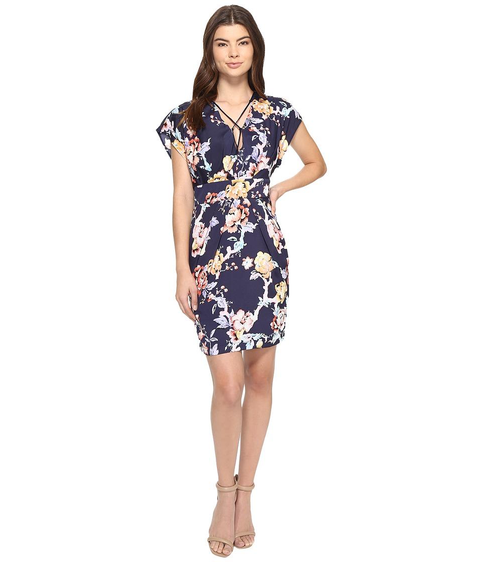Adelyn Rae - Printed Dress (Navy Multi) Women's Dress