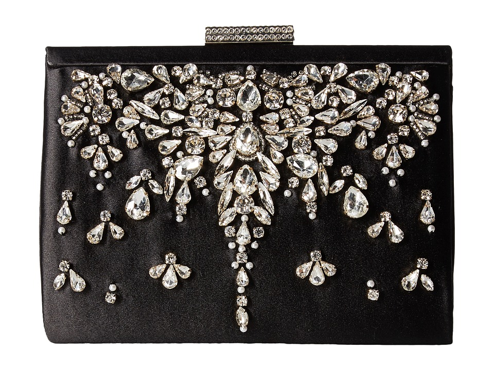 Badgley Mischka Adele (Black) Clutch Handbags