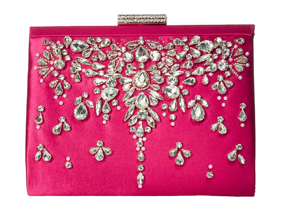 Badgley Mischka - Adele (Fuchsia) Clutch Handbags