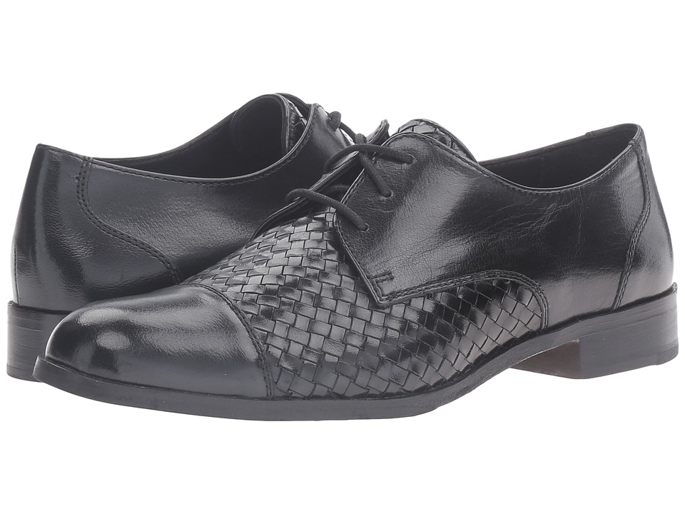 Cole Haan - Jagger Weave Oxford (Black/Black Weave) Women's Lace up casual Shoes