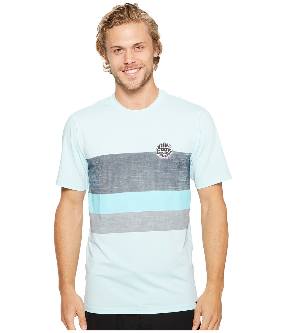 Rip Curl Surf Craft Surf Shirt Short Sleeve (Blue) Men