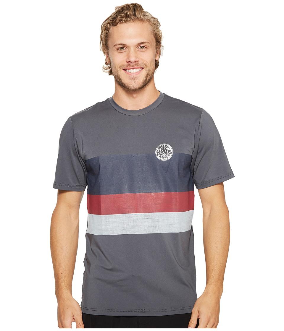 Rip Curl Surf Craft Surf Shirt Short Sleeve (Charcoal) Men