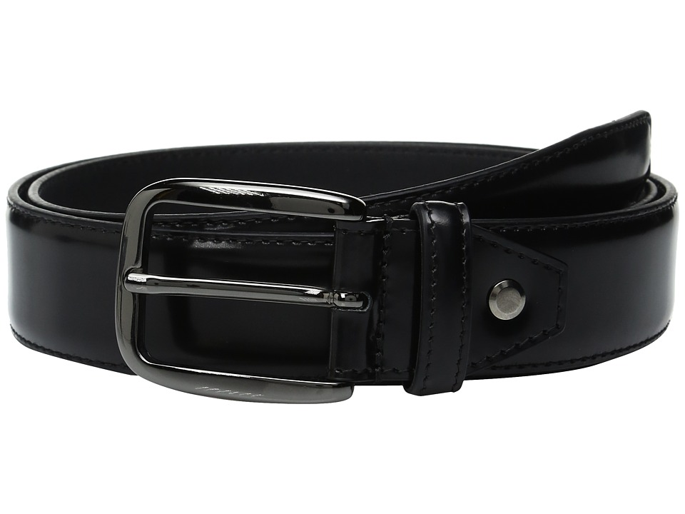 BUGATCHI - Verdi High Finish Belt (Nero) Men's Belts