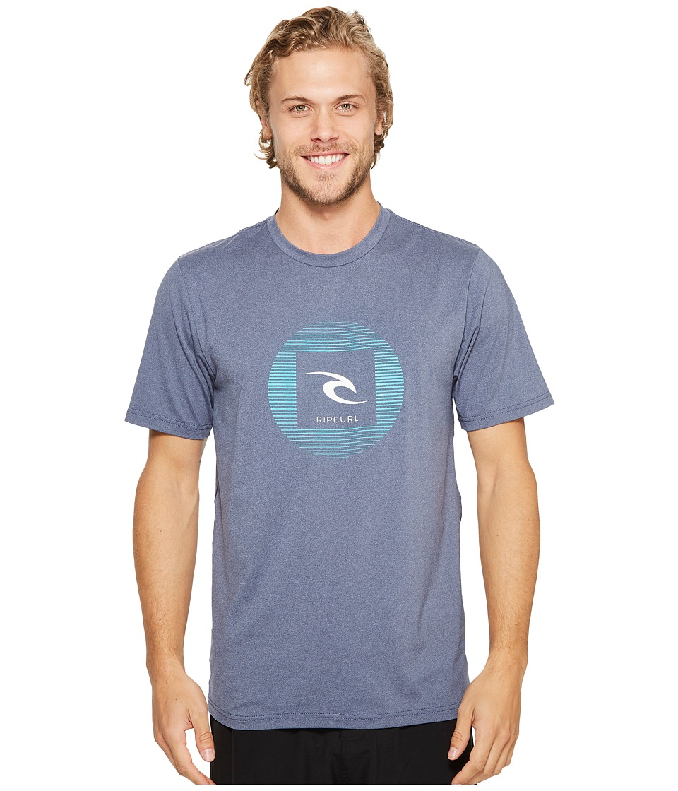 Rip Curl Round Up Short Sleeve Surf Shirt (Navy) Men