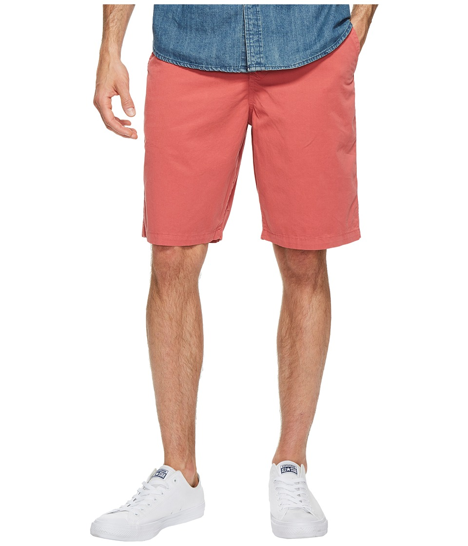 True Grit - Heritage Chino Shorts Hand Treated Washed w/ Stitch Details Zip (Vintage Red) Men's Shorts
