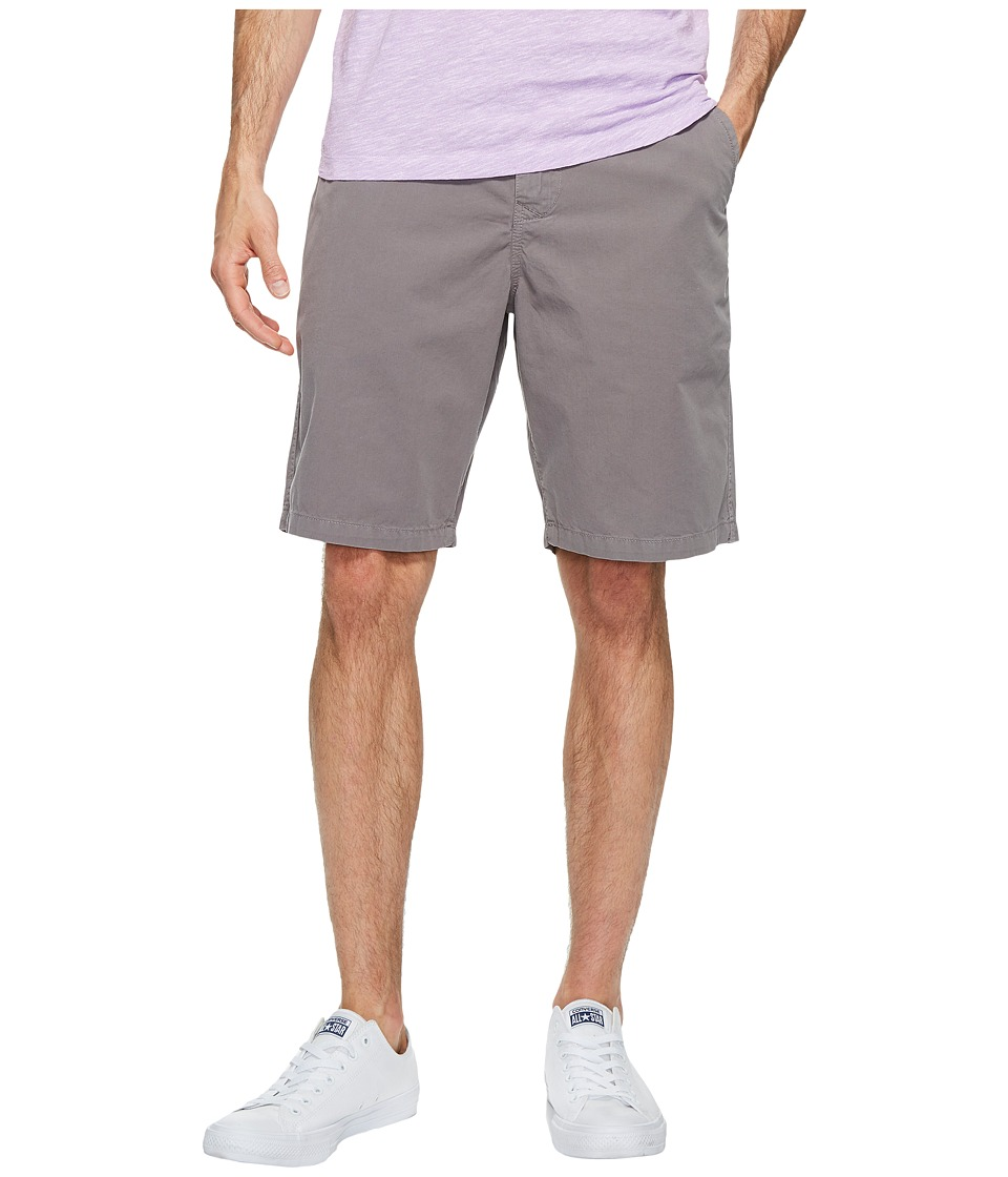 True Grit - Heritage Chino Shorts Hand Treated Washed w/ Stitch Details Zip (Vintage Charcoal) Men's Shorts