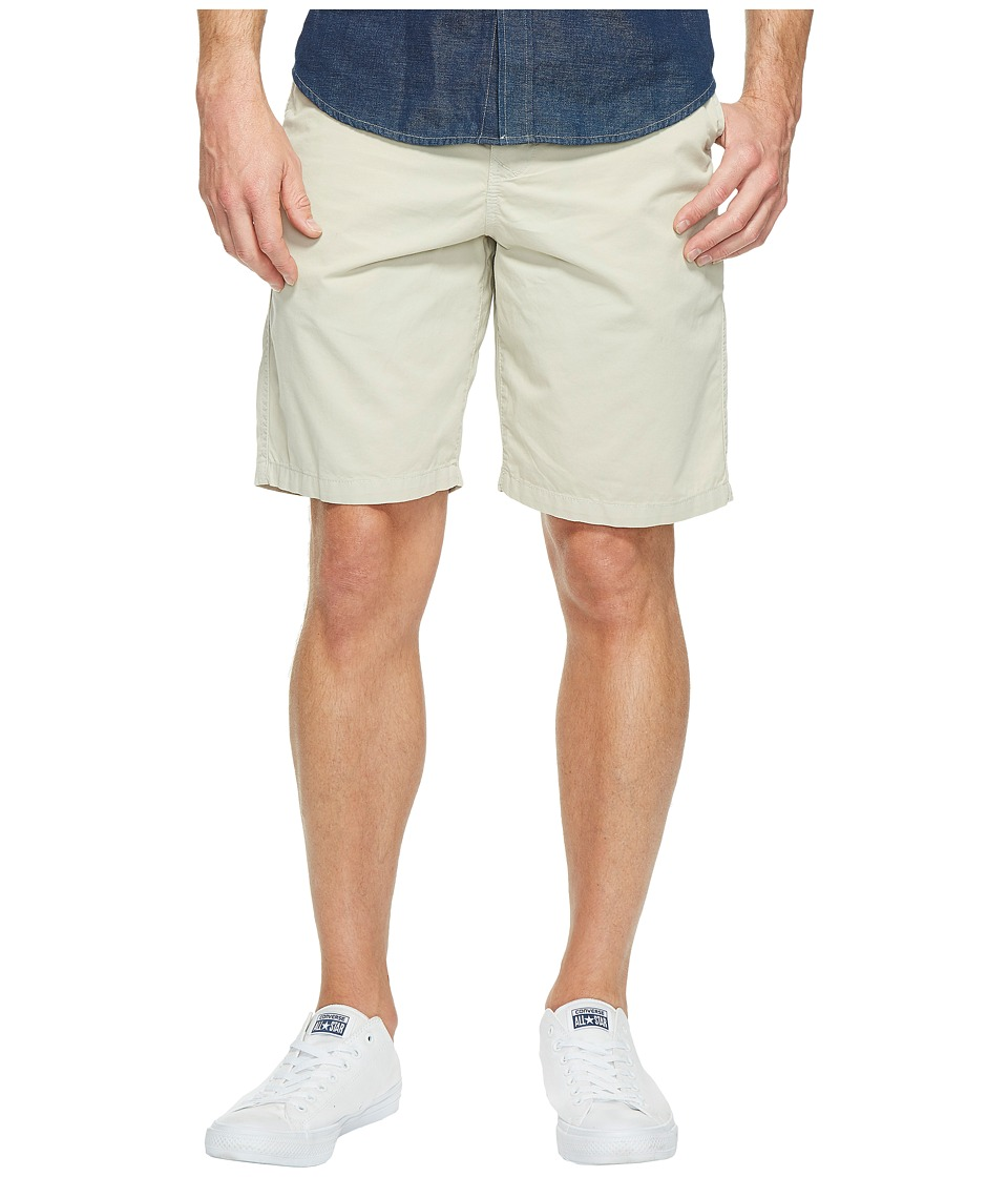 True Grit - Heritage Chino Shorts Hand Treated Washed w/ Stitch Details Zip (Vintage Smoke) Men's Shorts